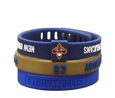 NBA Set Of 3 Silicon Bracelet New Orleans Basketball adjustable Wristband