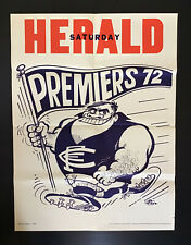 Original Carlton Blues 1972 VFL Premiers Saturday Herald WEG POSTER. AAA+ cond!