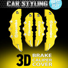 NEW 4pcs Yellow Disc Brake Caliper Cover Kit 3D Styling Front & Rear For Peugeot