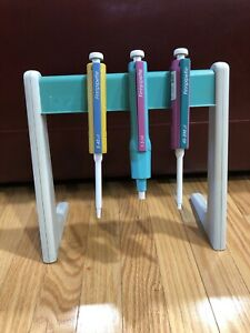 Finnpipette. Set Of Three With Rack