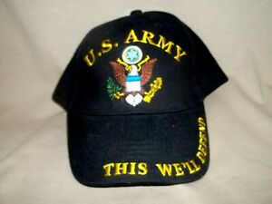 Army Star 100% Cotton, This We'll Defend Ballcap