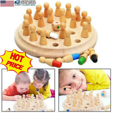 Wooden Memory Match Stick Chess Game Children Kids Puzzle Educational Toys US F2