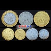 "[Z-1]Central African States set 7 coins, 2006, ""1+2+5+10+25+50+100 francs"" UNC"