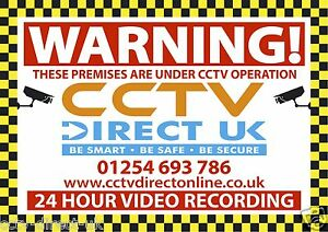 CCTV WARNING SIGN - These premises are under cctv operation. A3 Board
