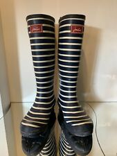 JOULES LADIES KNEE BLUE WHITE STRIPED WELLIES SIZE 5 38