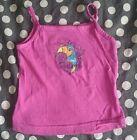 Haut débardeur tee shirt fille rose été bretelles HIPPIE GIRL taille 4 ans