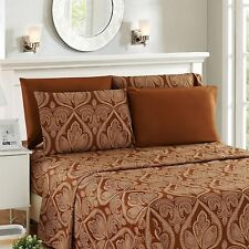 6 Piece Paisley Printed Bed Sheet Set 1800 Count Egyptian Quality HOTEL LUXURY