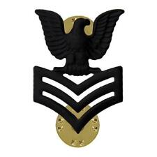 NEW US Navy E-6 Petty Officer First Class Right Side Only Insignia Metal Subdued