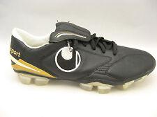 uhlsport Mens Kickschuh Legend FXG Soccer Cleats 7.5 Black Gold Football Boots