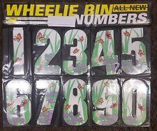 NUMBER THREE FLORAL Recycling General Wheelie BIN NUMBERS self adhesive FREEPOST