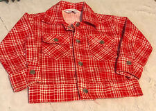 Vintage 80s Health-Tex Stantogs Red & White Plaid Snap Up Jacket Toddler 4T