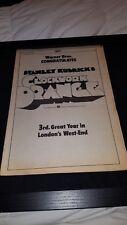 Clockwork Orange Rare Original Warner Brothers Promo Poster Ad Framed!