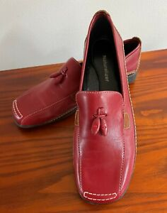NATURALIZER MODERN STYLE RED LEATHER TASSEL LOAFERS – SZ 7 - nwob