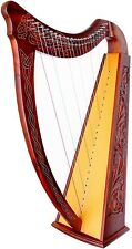 Celtic Irish Harp with CASE 22 Strings ROSEWOOD Lap FOLK DH800-03