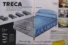 PUBLICITÉ PRESSE 1962 TRECA MATELAS IMPÉRIAL AIR SPRING - ADVERTISING