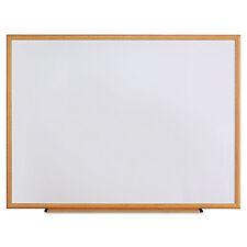 UNIVERSAL Dry Erase Board Melamine 48 x 36 Oak Frame 43618