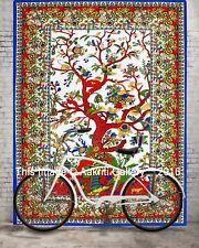 Indischer Mandala Tapestry Baum des Lebens Wandbehang Bohemian Twin Bettdecke
