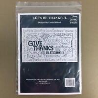 Let's Be Thankful cross stitch kit Ursula Michael Imaginating Thanksgiving New