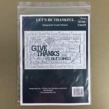 Let's Be Thankful cross stitch kit Ursula Michael Imaginating Thanksgiving New