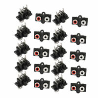20 Pcs PCB Mount AV Concentric Outlet 2 RCA Female Jack Socket Board