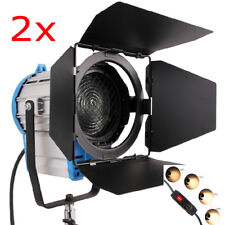 2X 2000W FRESNEL TUNGSTEN HALOGEN SPOTLIGHT LIGHTING STUDIO VIDEO LIGHT BULB DI