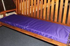 Garden Furniture Cushion- 3 Seater Swing Seat or Large Bench Cushion in Purple