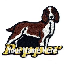 Welsh Springer Spaniel Dog Custom Iron-on Patch With Name Personalized Free