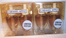 2 bx Bath & Body Works Wallflower Diffuser Refill Bulb Ltd Ed Caramel Apple