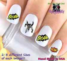 "RTG Set#612 CHARACTER ""Batman Pow 1"" WaterSlide Decals Nail Art Transfers"