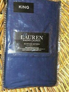 Lauren Ralph Lauren CADET BLUE Dunham Sateen King Pillowcase Pair 20 x 40