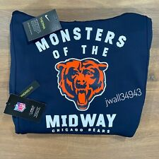 Authentic Nike Chicago Bears 2019 Mens NFL Monsters Of The Midway Therma Hoodie