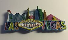 Welcome To Fabulous Las Vegas Sign Magnet Casino Gambling Strip Hotels Glitter