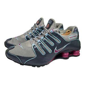 Nike Shox NZ Black Purple Womens Size 8.5 314561 061