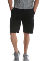 Men's Wrangler Black Cargo Short Relaxed Fit Hits At Knee Flat Front Choose Size