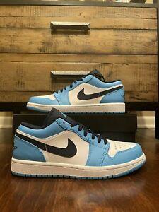 Nike Air Jordan 1 low UNC Powder Blue Obsidian Sizes 7.5-13 553558-144