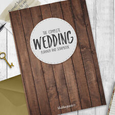 Wedding Planner - Wedding planning Diary / Journal /  Book. Wood Grain Style