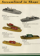 1944 PAPER AD Robin Toys WWII Toy War Ships Patrol Boats PT 12 21 Yacht Cruiser