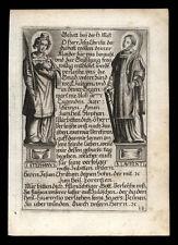 santino incisione 1600 SS.STEFANO PROTOMARTIRE E LORENZO DIACONO M.