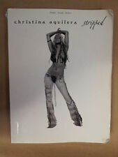 song book CHRISTINA AGUILERA stripped 2003