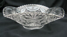 1900 Antique Pressed Glass Bryce Higbee New Crescent 9 Inch Square Bowl