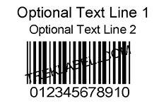 "1000 Custom Printed 1.5"" x 1"" Bar code Number Label Sticker Rolls Serial barcode"