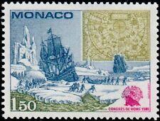 """MONACO N° 1301 """"REGIONS POLAIRES BOREALES,PREMIERS ARRIVANTS ET CARTE""""NEUF xxTTB"""