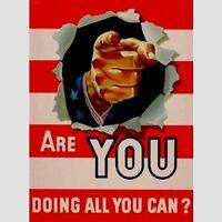 Vintage Werbung f. Buero &  Mitarbeiter Motivation Poster  Repro Schild  *658