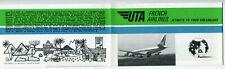 UTA French Airlines Information Brochure 1960s Union de Transports Aerians Vtg