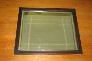 "Antique Mahogany Beveled Wall Mirror 32.5"" x 26.5""  #1361"