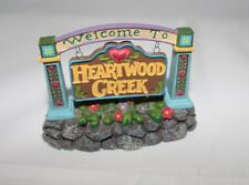 """Department 56 Jim Shore """"Welcome to Heartwood Creek Sign� Retired"""