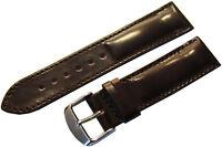 Uhrenarmband aus Pferde Leder braun Herren Horween shell cordovan oxblood 22mm