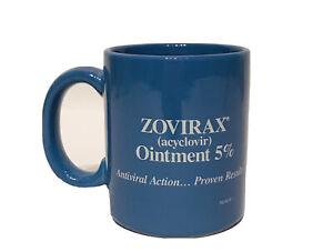 New Zovirax Blue Coffee Mug 10 oz Cup Ceramic