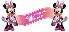 Minnie Mouse Clubhouse Room Decor -  Wall Decal Removable Sticker CUSTOM NAME