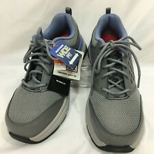 NEW Sketchers Women's 9 WIDE Soven Alloy Toe Slip Resistant Shoes Gray Blue